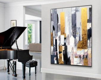 extra large wall art, modern abstract art, original oil painting abstract, oversized wall art canvas, large acrylic painting on canvas A186