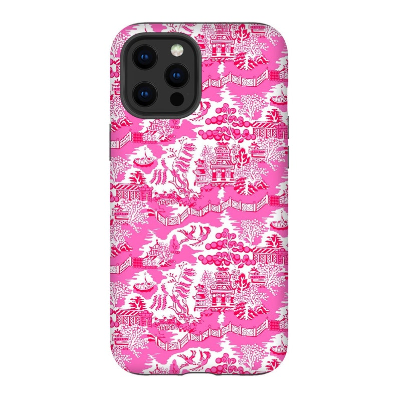Chinoiserie Chic Impact Resistant Tough Phone Case