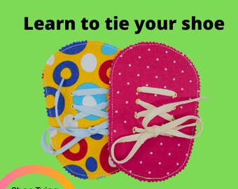 Felt Go Bananas Learn to Tie Your Shoe Great Educational learning toy #3867