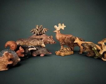 Wooden Toys - Woodland Animals - Big Set - Wooden Woodland Animals - Wooden Forest Animals