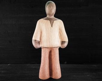 Wooden Toy Lad - Dark - Wooden Toy Man