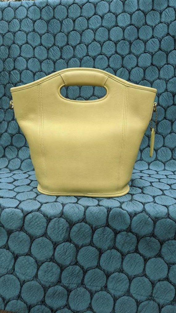 Vintage Coach mini shopper bucket crossbody bag, 9