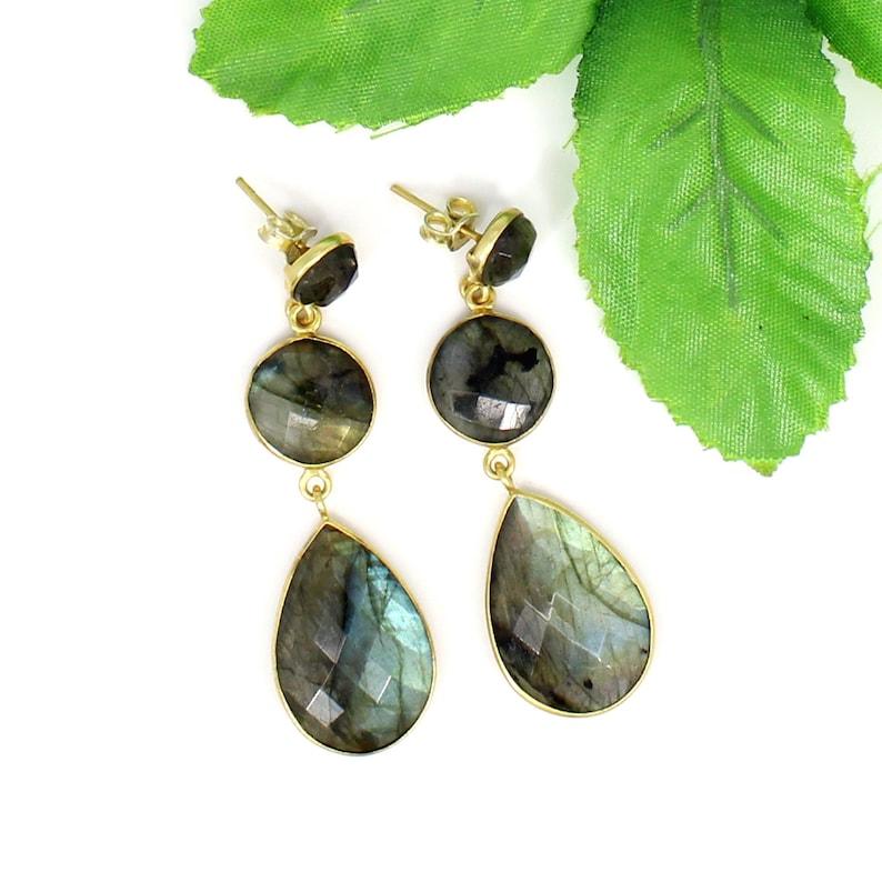Labradorite Earrings Silver,Flashy Labradorite Earrings,Labradorite Sterling Silver Earrings 925,Rainbow Labradorite Earrings,Boho Earrings