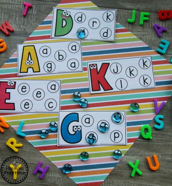 Preschool Printables Learning Letters Alphabet Matching Etsy