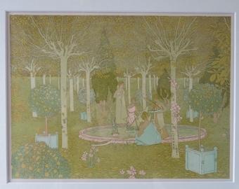 Original lithograph by Gaston de Latenay