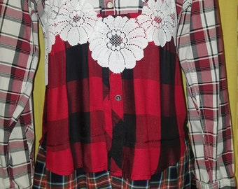 Upcycled Flannel shirt