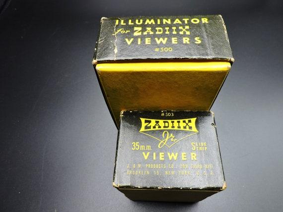 Vintage Plastic Slide Viewer Kit in Original Boxes Zadiix