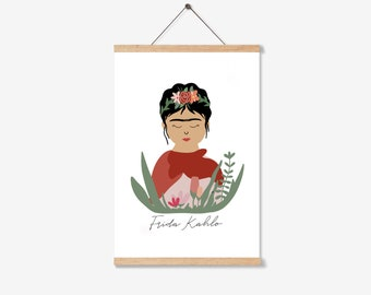 """Frida Kahlo Reversible Apron """"Empowered"""" New Black"""