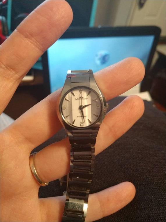 Women's Tungsten and Sapphire Wristwatch