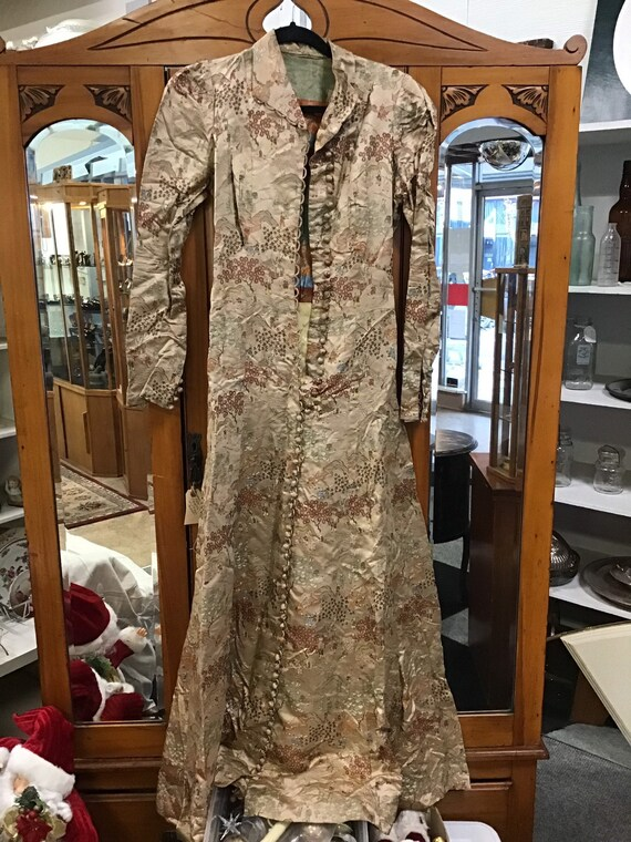 Cheongsam Silk Dress Vintage Chinese Tribute Silk