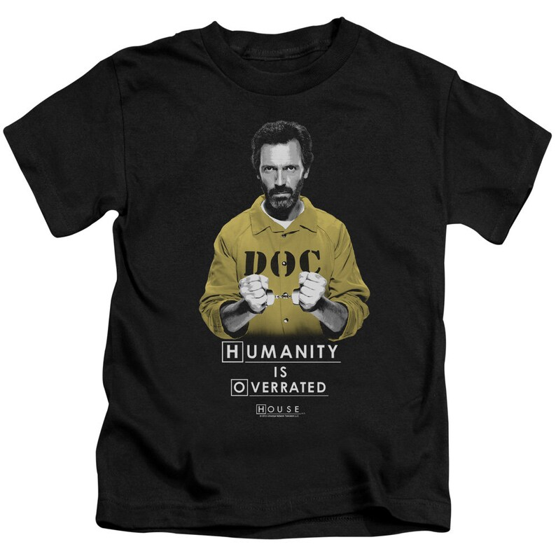 House Humanity Is Overrated Kid/'s Black Shirts