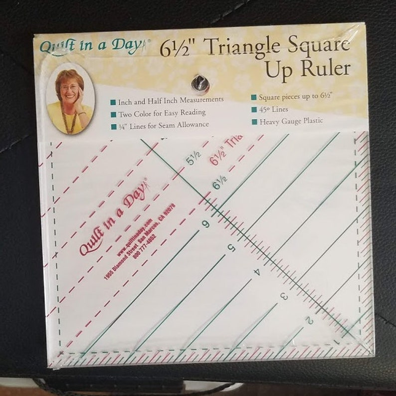 Quilt in a Day 6 12 Triangle Square it Up Ruler