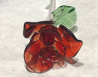 Blown Glass Rose