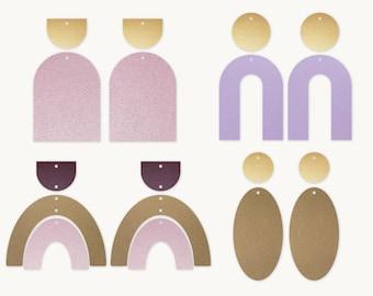 Earrings SVG | Rainbow earrings template SVG, Leather Earrings, Arch Earring Template, Silhouette Cut Files, Cricut Cut Files