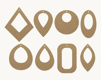 Earrings SVG | Teardrop Earrings SVG, Leather Earrings, Leaf Earrings SVG, Earring Template, Silhouette Cricut Cut Files