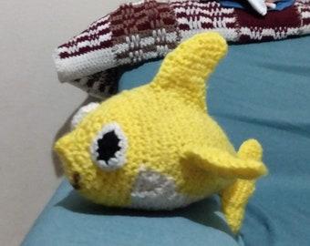 Baby Shark amigurumi | Amigurumi de animais de crochê, Bichinhos ... | 270x340