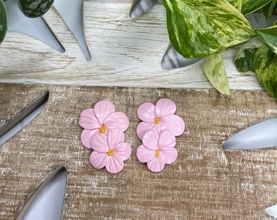 Bahama mama Leilani Medium Studs tropical island collection Statement Earrings Hand cut Leaf Dangles flowers