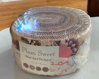 Plum sweet jelly roll blackbird designs moda