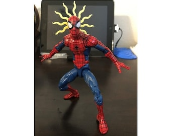 White Yellow Or blue Spider Senses EFFECT ONLY Mezco, Mafex, NECA Marvel Legends