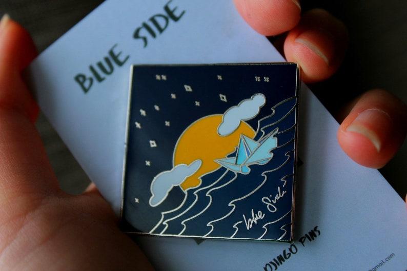 BTS J-HOPE Blue Side inspired Hard Enamel Pin