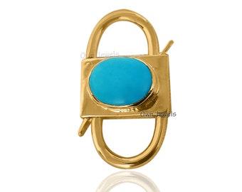 Padlock Necklace Turquoise Padlock Necklace Padlock Jewelry 14k Gold Vermeil Turquoise Padlock Silver Gold Necklace Handmade Padlock