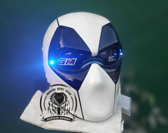 Custom Helmet Deadpool Black White Colo for motorcycle approved DOT & ECE