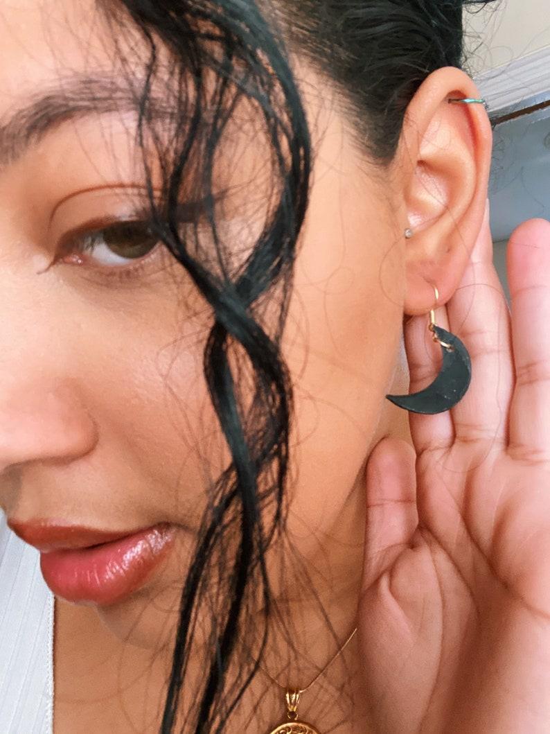 Half Moon Dangle Earrings