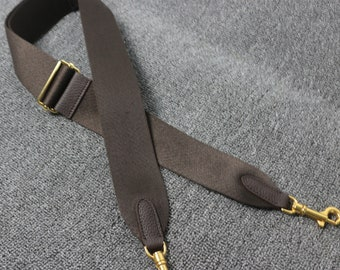 """Adjustable 2"""" solide color canvas and leather shoulder strap guitar strap purse bag strap crossbody purse strap replacement"""