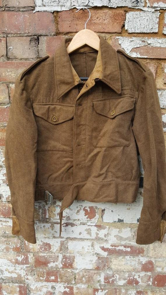 Vintage WW2 1943 battledress blouse British milita