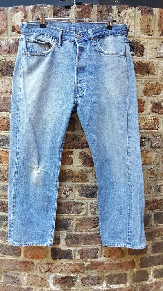 Vintage Levis redlines 501 denim jeans selvedge bl