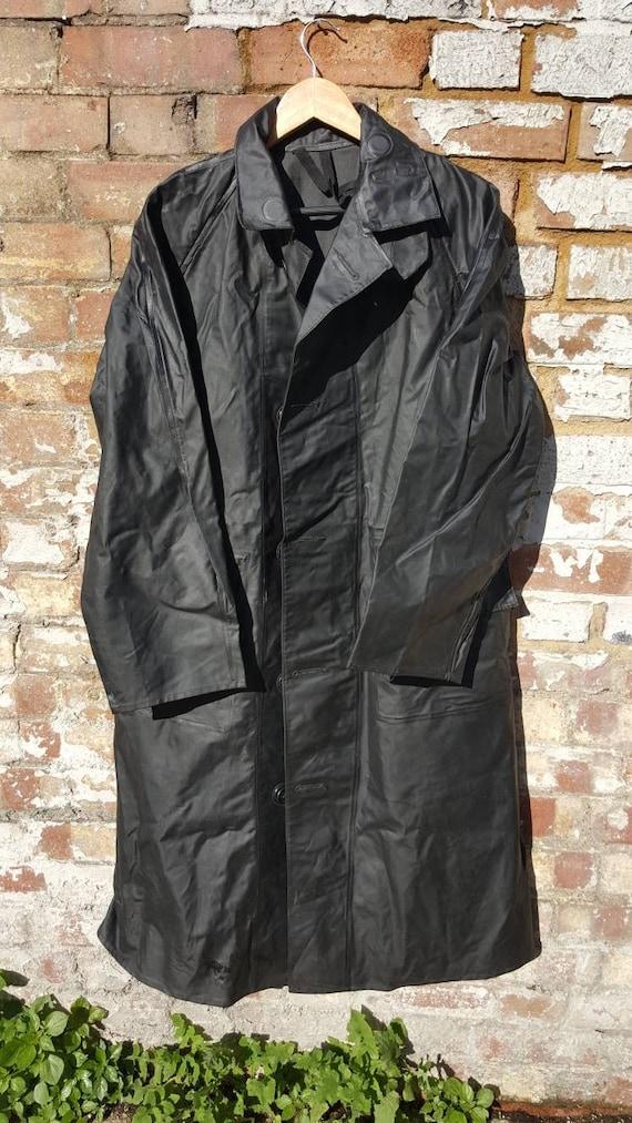 Vintage 1960s GPO PVC coat mackintosh foul weather