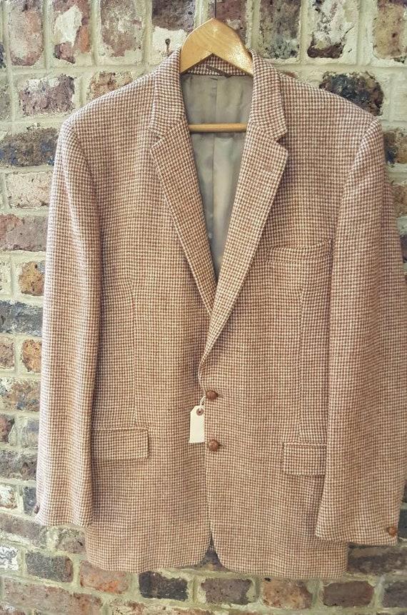 Vintage 1940s / 1950s mens Harris tweed jacket siz