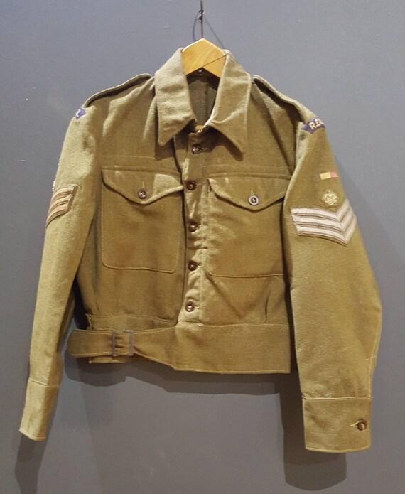 WW2 1943 battledress blouse R.E.M.E. staff sergean