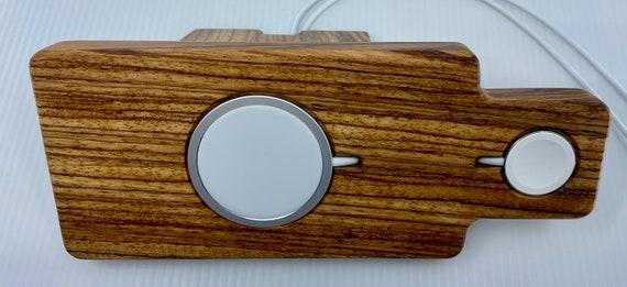 iPhone 12 MagSafe & Apple Watch Hardwood Night Stand