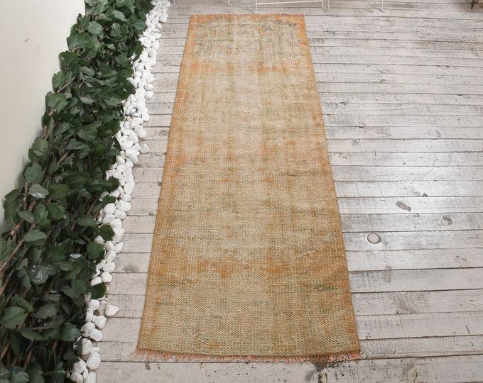 Wool Rug Kitchen Rug Faded Rug 2.3x6.9 ft Runner Rug Stair Rug Oriental Rug Vintage Rug Oushak Rug Turkish Rug 8127 Antique Rug