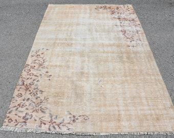 turkish rug 2.6x4.7 ft runner rug oushak rug oriental vintage rug vintage decor home decor handmade rug decor carpet rugs anatolian rug