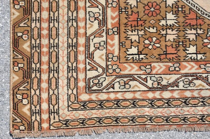 Oushak Rug 4.7x6.5 ft Antique Rug Turkish Rug Bathroom Rug Decor Rug Floral Rug,Area Rug 4762 Oriental Rug Vintage Rug Handmade Rug