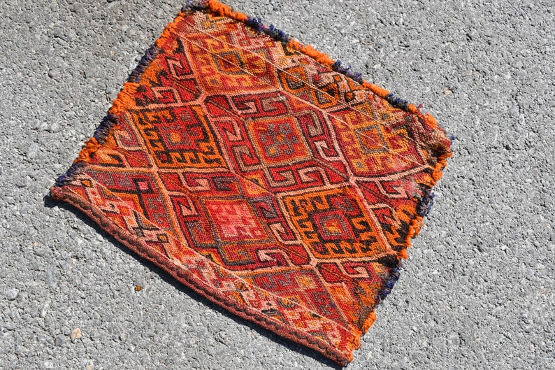 Pink Klm 6212 Oriental Kilim Oushak Kilim Handmade Kilim 1.5x1.8 ft Organic Kilim Vintage Rug,Orange Kilim Turkish Kilim Small Kilim