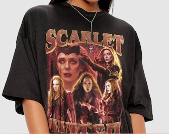 Vintage Scarlet Witch, Wanda Maximoff T-Shirt, Wanda Vision T-Shirt, Homage T-Shirt, Elizabeth Olsen shirt