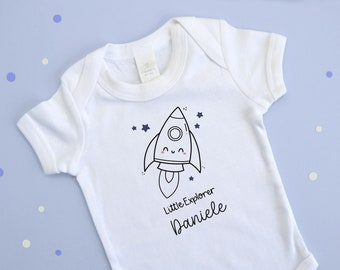 Personalized Body for Babies   Baby Jumpsuit Space Theme Galaxy   Gift Ideas Childhood Suit / First Birthday / Birth   Confetti Mood