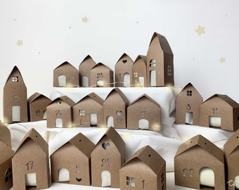 Advent Calendar in Village to be assembled   Christmas houses to hang and assemble   Christmas Tree Decorations   Confetti Mood