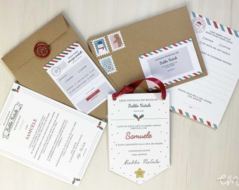 Santa's Letterina Kit & Banner Children's Voucher List - Sticker / Christmas Stickers and Flag from the North Pole - Mood Confetti