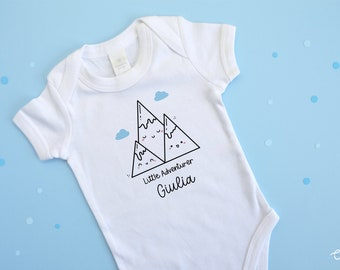 Personalized Jumpsuit for Kids   Newborn Body with Name and Cloud   Baby Gift, Early Childhood, Birth, First Birthday - Confetti Mood
