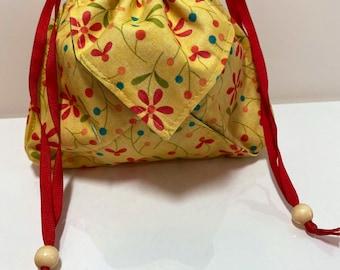 Drawstring Origami Bag