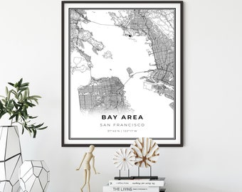 Sf Bay Area Map Etsy I know but my point was just about the map labeling. sf bay area map etsy