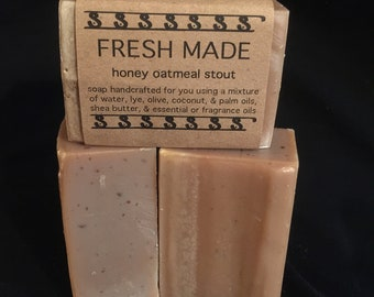 Honey Oatmeal Stout Bar Soap - Best Seller!