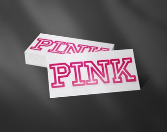 Laptop Cover Make up cup Victoria Secret Pink  I love pink  Angel wings ~ 2 Sample Size Sign Decal Vinyl for Car Window