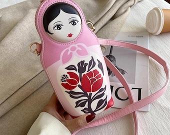 Matryoshka Doll Change Purse Russian Doll