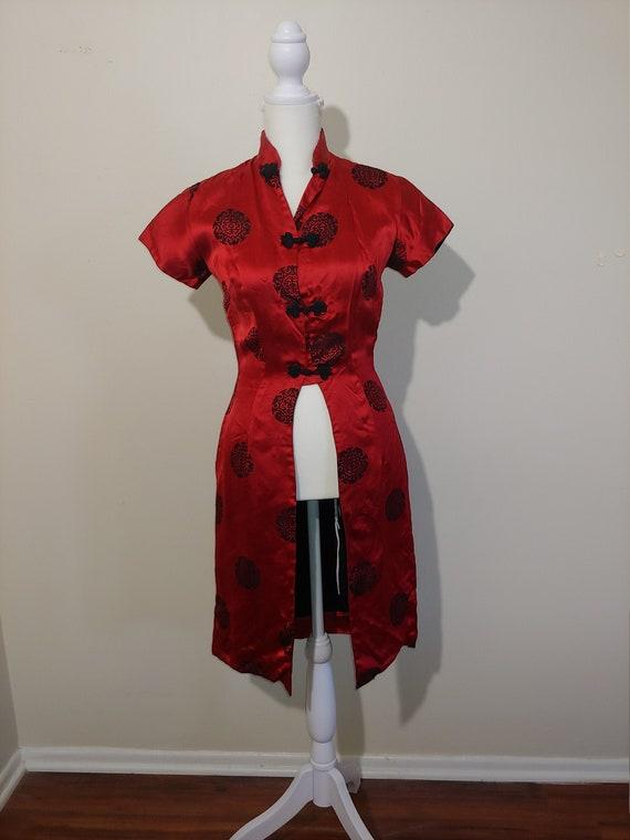 50s VINTAGE Women's Silk Chinese jacket-dress
