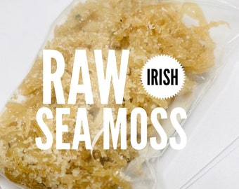 Real Authentic - Ocean Fresh Raw Irish Sea Moss - %100 Pure & NATURAL  - Wildcrafted  - Fresh From JAMAICA - Wild Crafted - SUPERFOOD